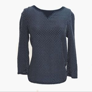 MADEWELL Silk front blouse with heart print